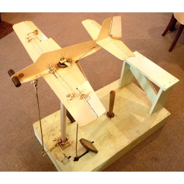 Metal 1930's Mechanical Flight Simulator For Sale - Image 7 of 10