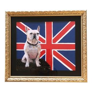 """White """"Frenchie"""" Bulldog Dog Print W/Luis Vuitton For Sale"""