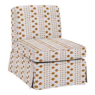 Virginia Kraft for Casa Cosima Slipper Chair, Polkat, Caramel For Sale