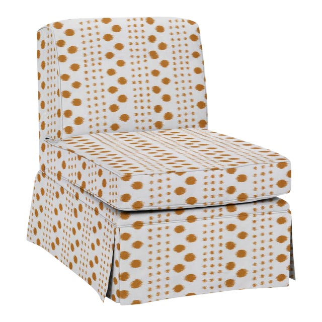 Virginia Kraft for Casa Cosima Slipper Chair, Polkat, Caramel For Sale