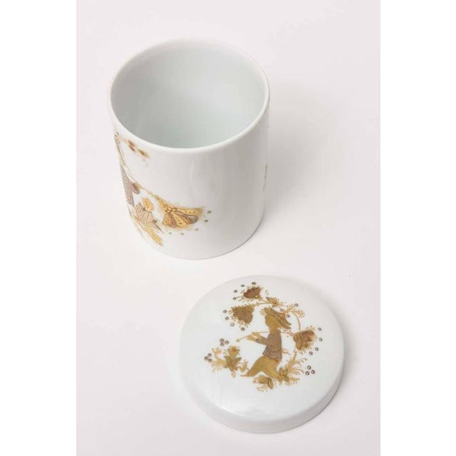 Ceramic Lidded Box and Canister by Bjorn Wiinblad for Rosenthal For Sale - Image 7 of 10