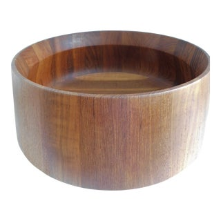Dansk Design Denmark Teak Wooden Salad Bowl For Sale