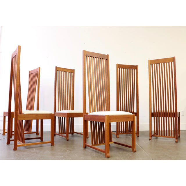 Cherry Wood Dining Room Table: Frank Lloyd Wright Style Cherry Wood Dining Room Table And
