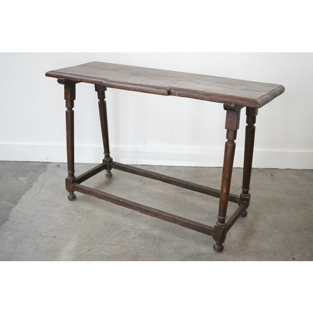 Late 19th Century Spanish Walnut Console For Sale - Image 5 of 8