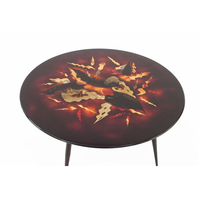 Black French Midcentury Low Coffee Table, by Bernard Dunand For Sale - Image 8 of 8