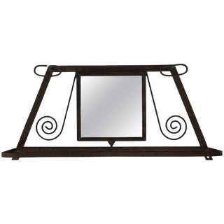 French Wrought Iron Wall Shelf For Sale