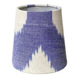 Image of Blue & White Ikat Chandelier Shade For Sale