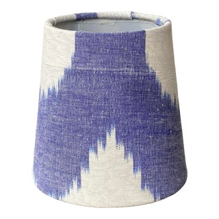 Blue & White Ikat Chandelier Shade For Sale