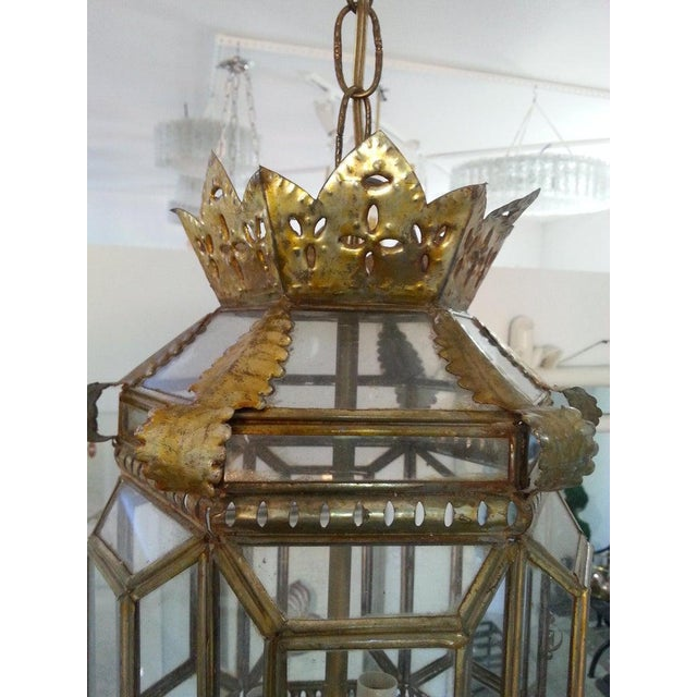 Mid-Century Spanish Colonial Style Chandelier For Sale In West Palm - Image 6 of 12