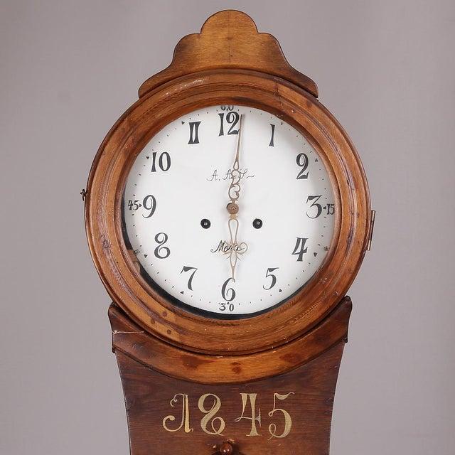 Swedish Longcase Grandfather Clock Anno 1845 For Sale - Image 10 of 12