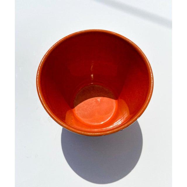 Bitossi Italian Orange Mid-Century Ceramic Planter For Sale - Image 4 of 9