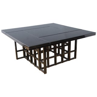 Charles Rennie Mackintosh Style Black Lacquer Coffee Table For Sale