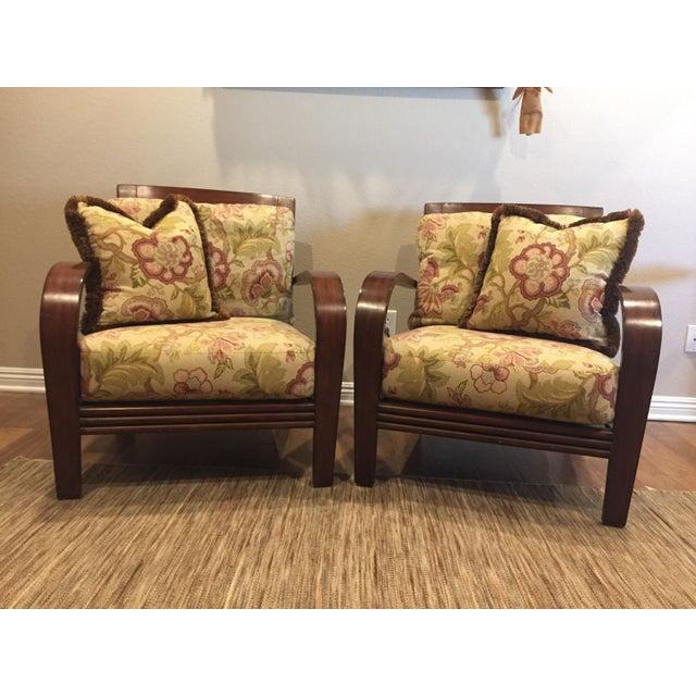 Ethan Allen Jamaica Arm Chairs - a Pair For Sale - Image 11 of 11