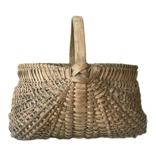 Antique Virginia Oak Splint Basket For Sale