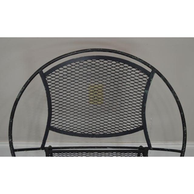 "Salterini Vintage 1960's Wrought Iron ""Radar"" Patio Lounge Chair For Sale - Image 9 of 13"