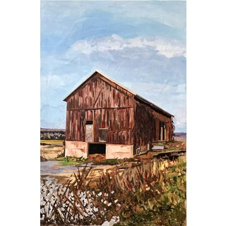 The Weathered Barn Painting by Josh Moulton For Sale