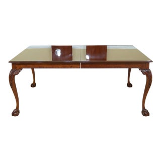 Stickley Ball & Claw Chippendale Mahogany Dining Room Table For Sale