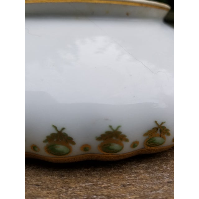 Ceramic Antique Limoges Elite Serving Bowl With Handles For Sale - Image 7 of 10