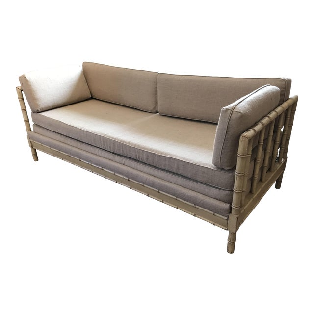 French Style Faux Bamboo Daybed - Image 1 of 6