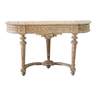 19th Century Louis XVI Style Carved Console Table For Sale