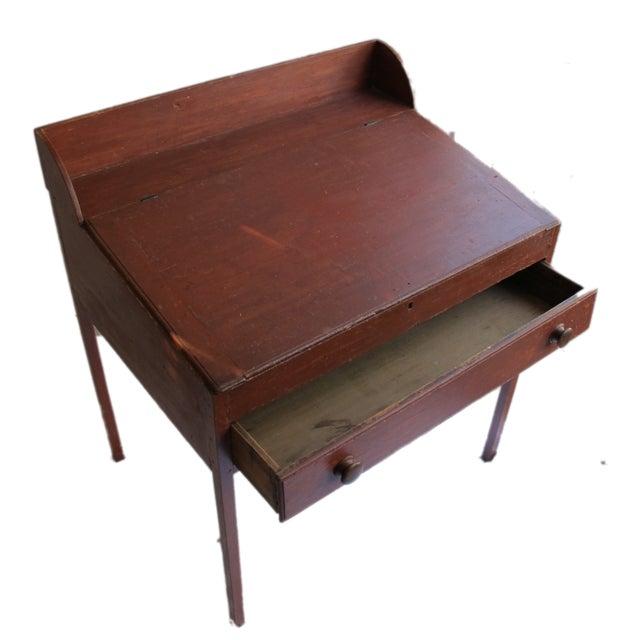 Original Red Painted Schoolmaster's Desk - Image 8 of 9