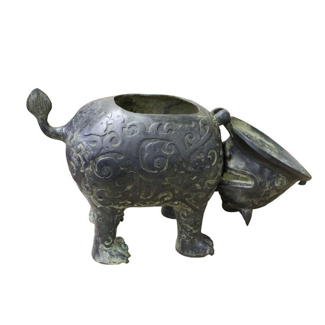 Chinese Oriental Green Bronze-ware Home Decor Display cs2678 - Image 4 of 6