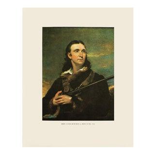 1966 Portrait of John James Audubon by John Syme American Classical Vintage Print For Sale