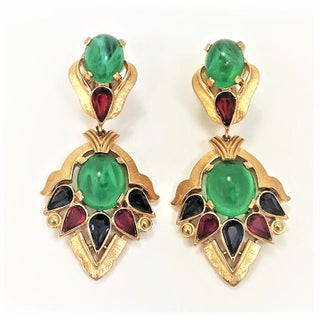 "Trifari's Second Generation ""Jewels of India"" Moghul Collection Drop Earrings Preview"