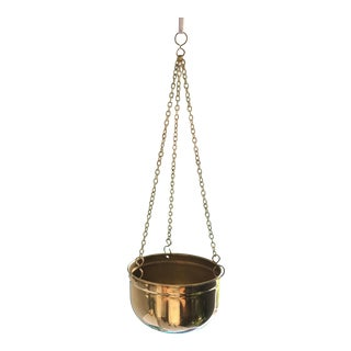 Vintage Brass Hanging Planters - a Pair