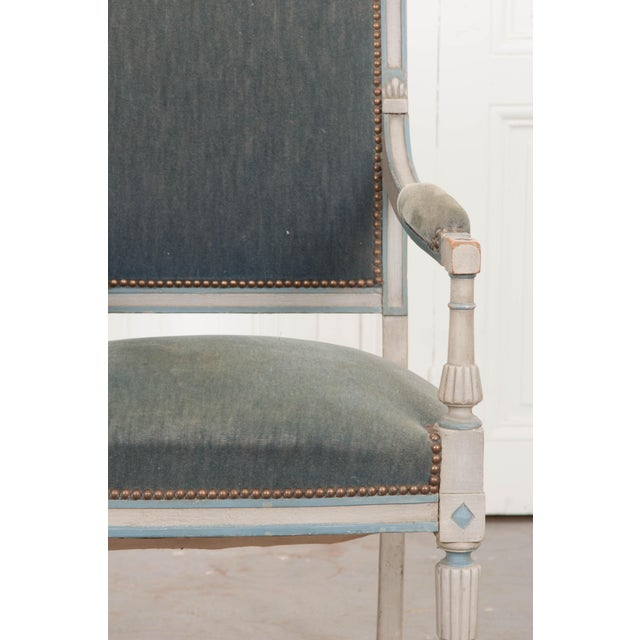 French 19th Century Second Empire Painted Fauteuil For Sale - Image 10 of 13
