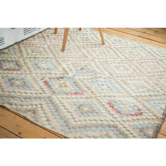 "Vintage Oushak Distressed Square Rug - 5'4"" X 5'5"" - Image 3 of 7"
