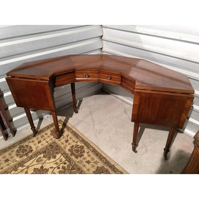 "Vintage Thomasville Drop-Leaf ""Horseshoe"" Desk - Image 10 of 10"