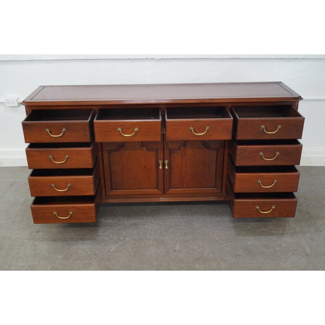 Custom Crafted Solid Mahogany Chippendale Georgian Court Style Long Dresser AGE/COUNTRY OF ORIGIN: Approx 35 years, Asia...
