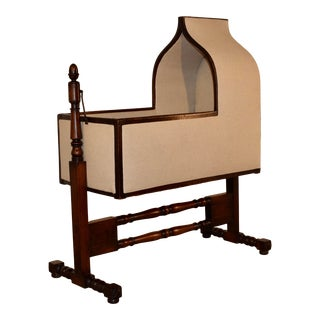 19th C. Gothic Revival Walnut Cradle For Sale