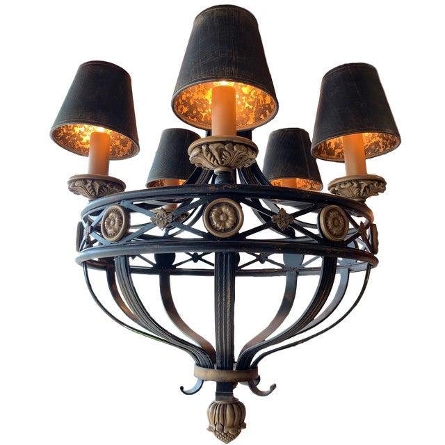 Fine Art Lighting Chandelier Bronze & Gold 5 Lights For Sale - Image 13 of 13