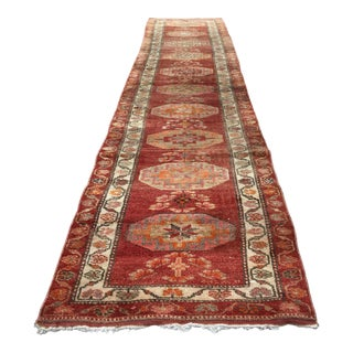 Vintage Turkish Herki Rug Runner For Sale