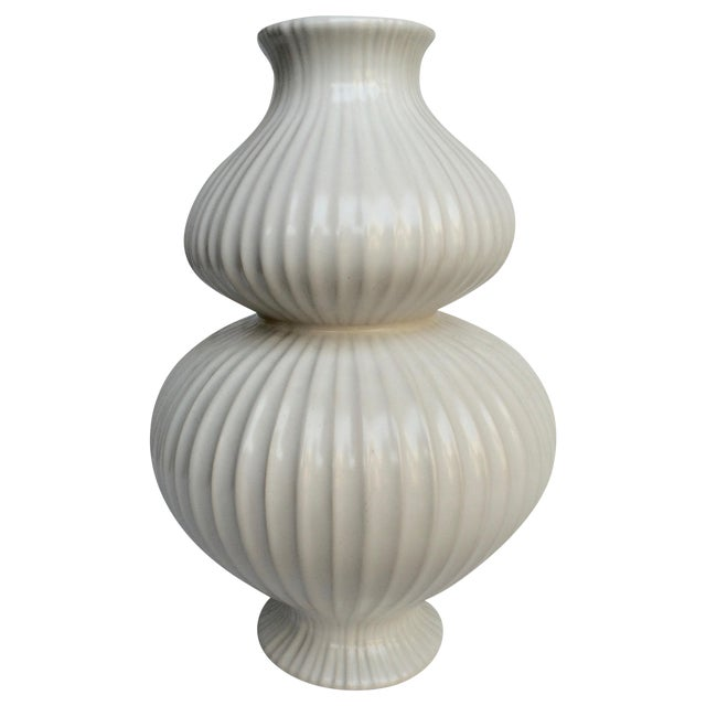 Jonathan Adler White Vase - Image 1 of 4
