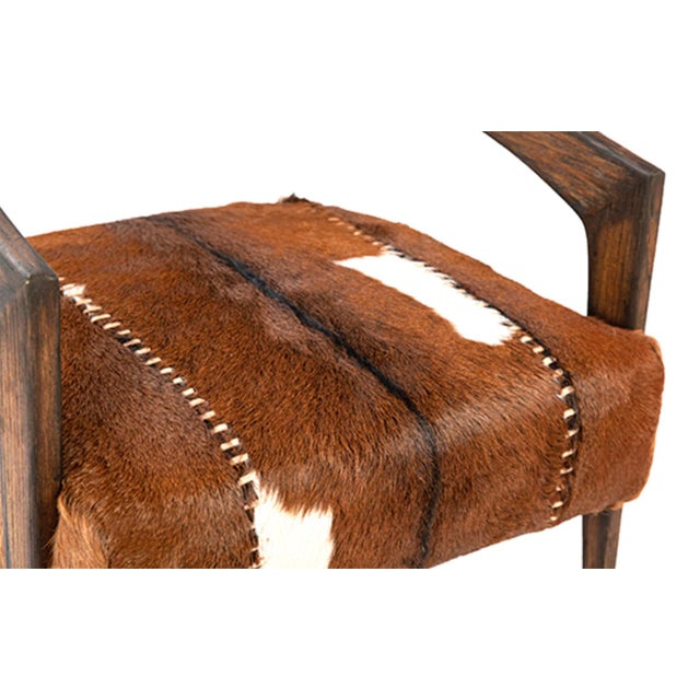 Deco Horseshoe Arm Chair For Sale - Image 4 of 5