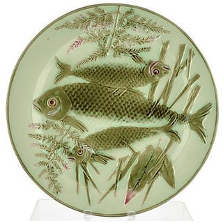 Antique Wedgwood Fish Wall Plate