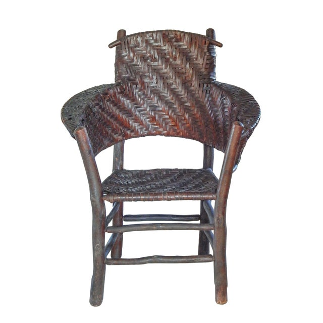 Old Hickory armchair with excellent age patina.