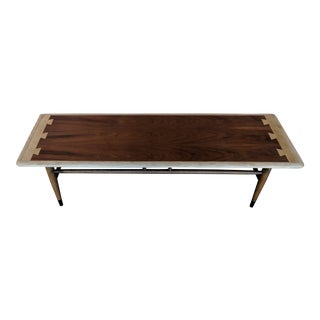 Mid Century Lane Acclaim Walnut Dovetail Coffee Table For Sale