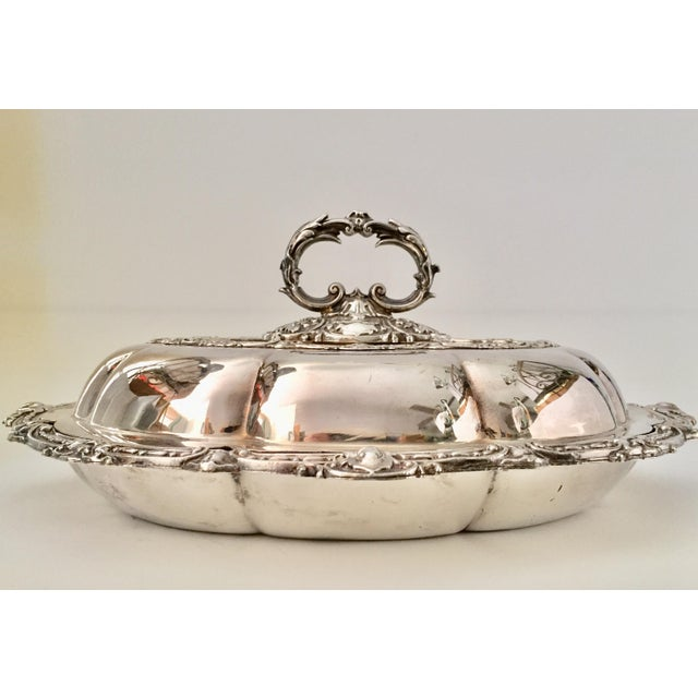 Maker: Fenton Brothers Of Sheffield, ( Well Renowned Company) Item: Antique Silver-Plated Serving Dish With Cover And...