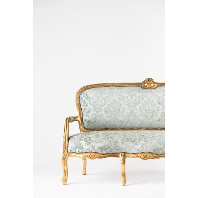 1930s 1930s Vintage Adalie French Mint Sofa For Sale - Image 5 of 6