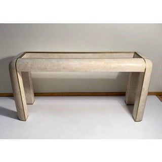 Maitland-Smith Console Tessellated Fossil Mosaic Stone Marble Console Table Preview