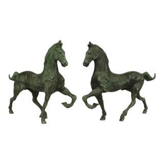 "Italian Renaissance Style ""Cavalli DI San MarCo Ii"" Horse Figurines - a Pair For Sale"