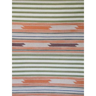 Sample, Scalamandre Cheyenne, Arancio Verde Fabric For Sale