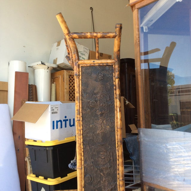 Antique Bamboo Cabinet For Sale - Image 10 of 11