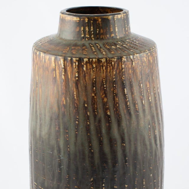 """1950s Gunnar Nylund for Rørstrand """"Rubus"""" Floor Vase Circa 1950s For Sale - Image 5 of 10"""