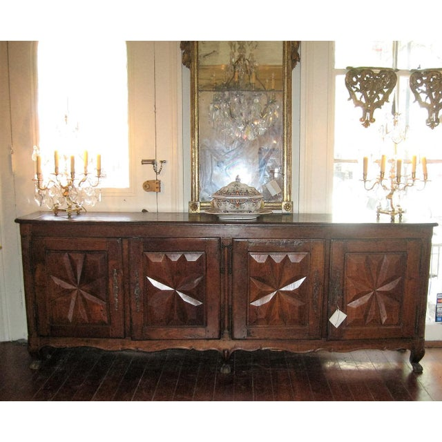 Louis XV French Antique Sideboard in Walnut, 18th Century For Sale - Image 3 of 12