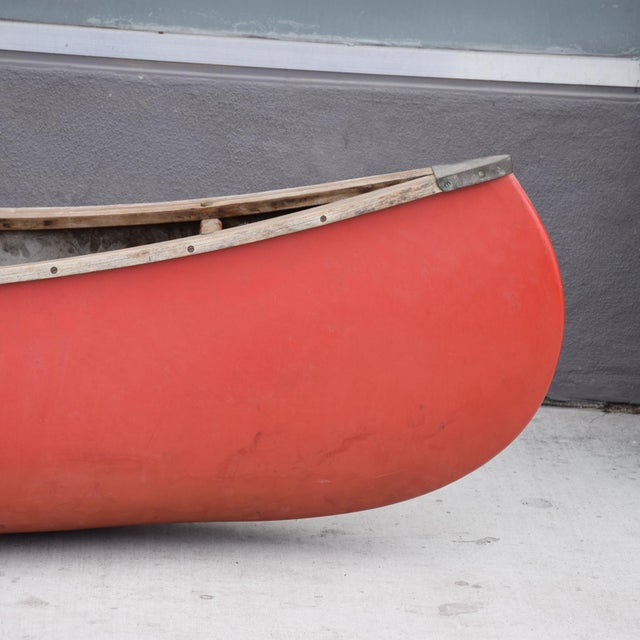 Mid-Century Modern Mid-Century Modern Old Town Red Canoe Kayak For Sale - Image 3 of 8